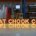 led bulb sign