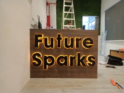 Led Backlit Aluminium Channel Letters 3D With Led Back Light Up