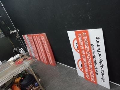 Aluminum No Camera Signage Safety Signage