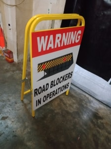 Portable a Frame Signage Warning Stand Safety Road Directional