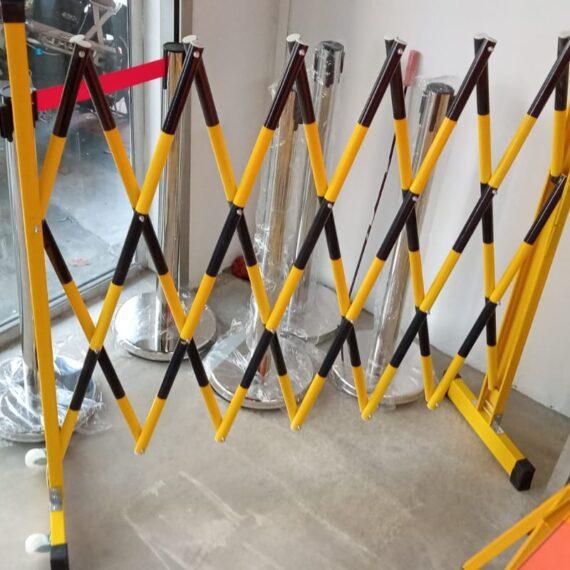 Banner PVC Pipe Barricade Maintenance Works