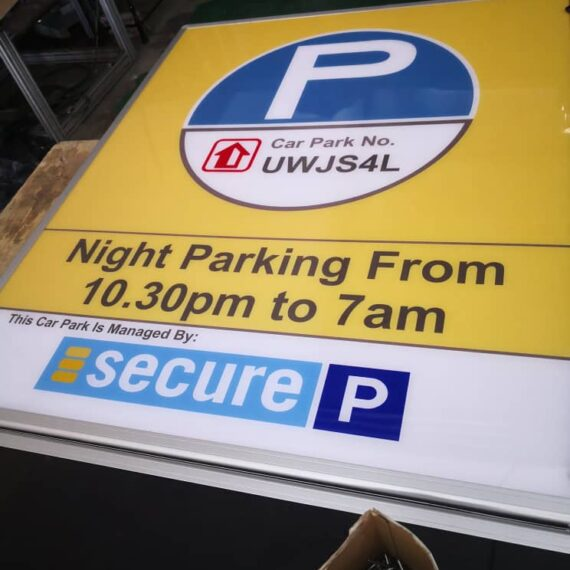 Custom Fabrication Lightbox Programmable Led Display FULL Parking Lot Counter Signages